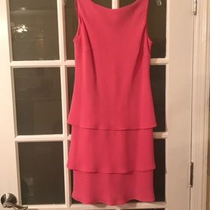 Casual cocktail pink dress